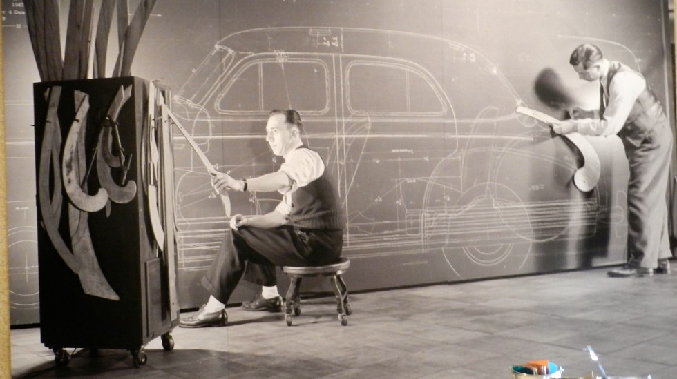 Harley Earl at the Drawing Board