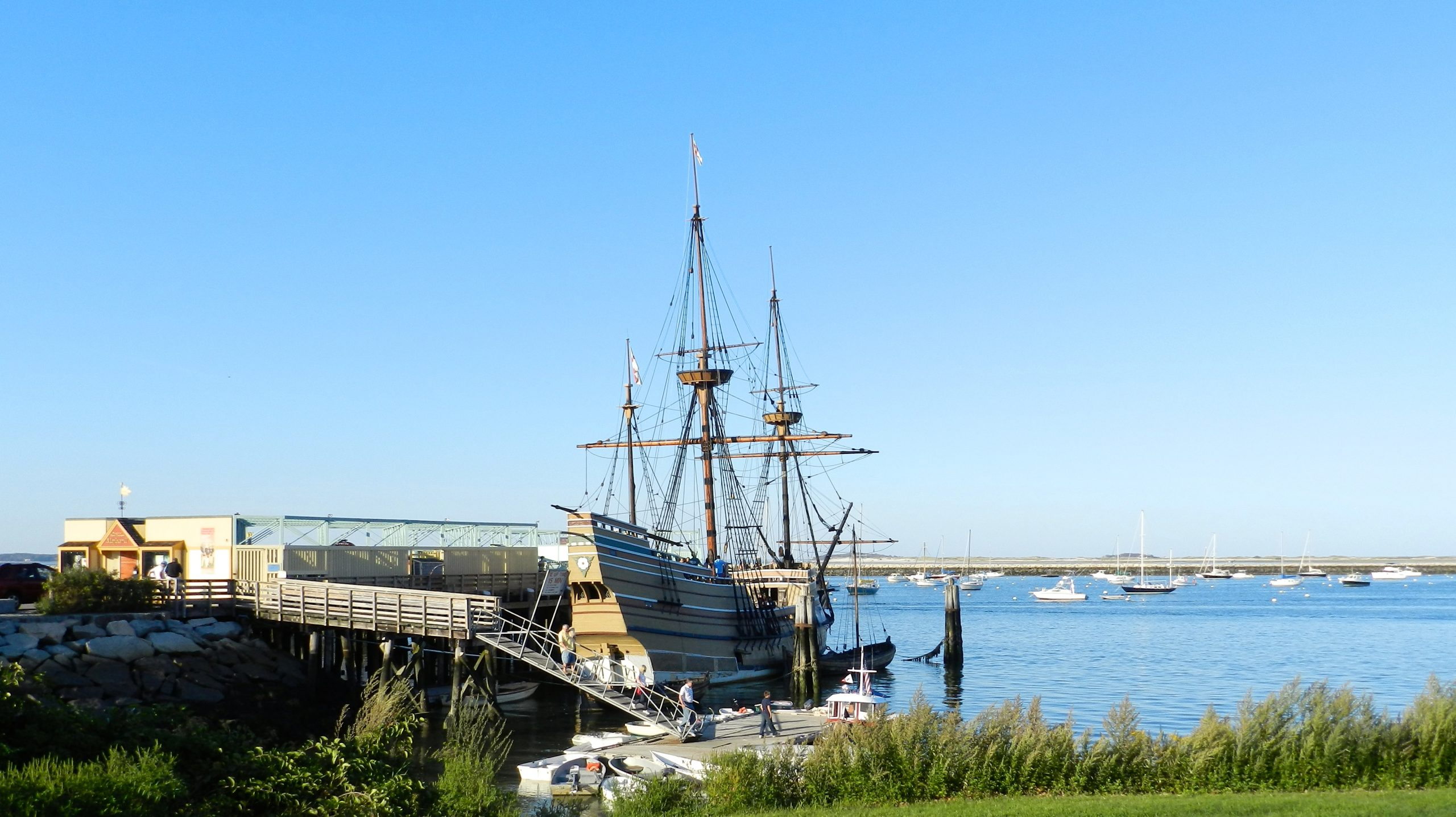 Mayflower II in Plymouth Harbor