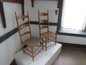 Shaker Chairs. Center Family Dwelling. Shaker Village of Pleasant HIll.