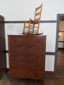 Shaker Chest of Drawers. Center Family Dwelling. Shaker Village of Pleasant HIll.