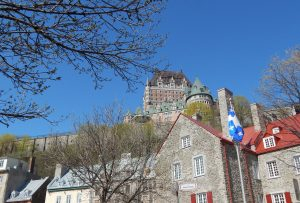 Old Quebec City and the Chateau Frontenac