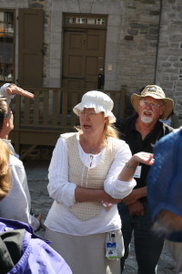 One of our guides in Old Quebec during the 2015 EAIA Annual Meeting in Quebec City.
