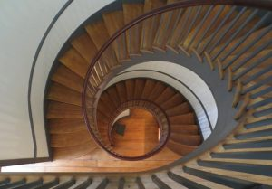 Spiral staircase at the Trustee's House, Shaker Village, Pleasant Hill