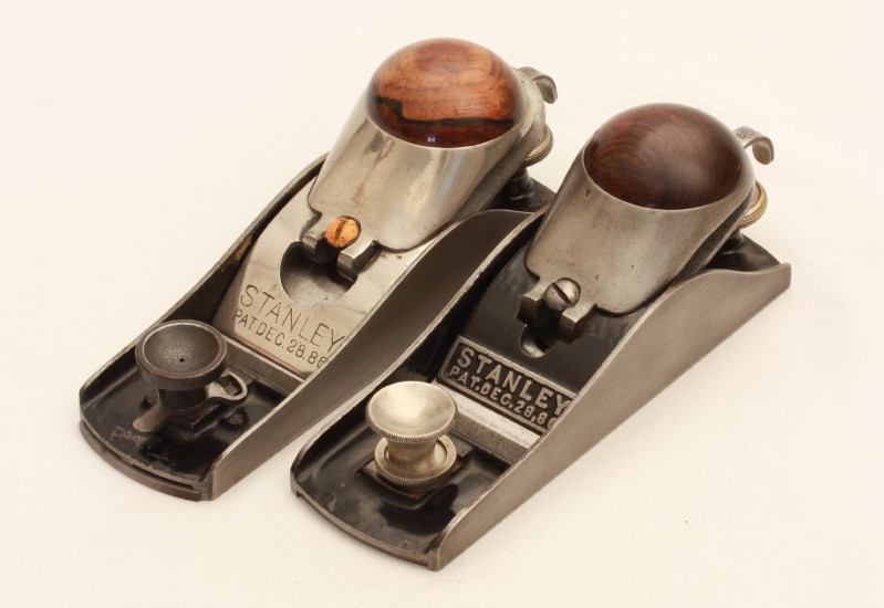 Two No. 18 Block Planes with Knuckle-Joint Lever Caps from the Stanley model Shop