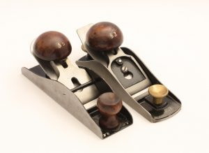 Rosewood Buttons on Two Block Planes From the Stanley Model Shop
