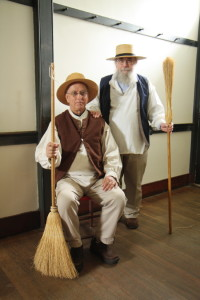 EAIA President Pat Lasswell (standing) and EAIA Executive Director John Verrill Dressed as Shakers at the 2016 EAIA Annual Meeting at Pleasant Hill Shaker Village