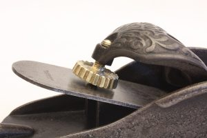 Lever Cap Adjusting Screw on a Type 2 Stanley #110 Block Plane