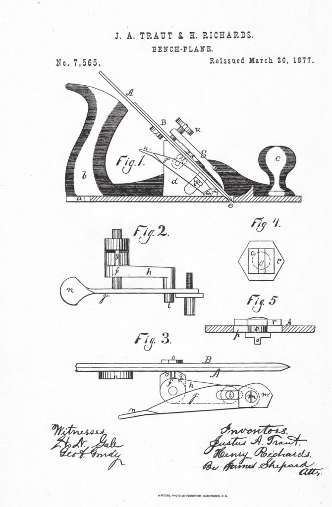 Traut & Richards Patent for Liberty Bell Plane