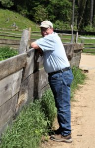 Ron Howard Checking on the Livestock at Old Sturbridge Village during the 2017 EAIA Annual Meeting