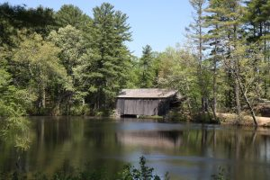 The Covered Bridge Over the Mill Pond at Old Sturbridge Village