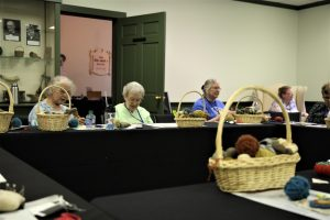 The EAIA Fiber Interest Group Working on Their Yarn Sewing Project During the 2017 EAIA Annual Meeting