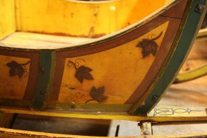 Detail from a Sleigh in the Machine Shed at Old Sturbridge Village