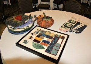 Rug Punching samples by Becky Densmore, 2018 EAIA Annual Meeting