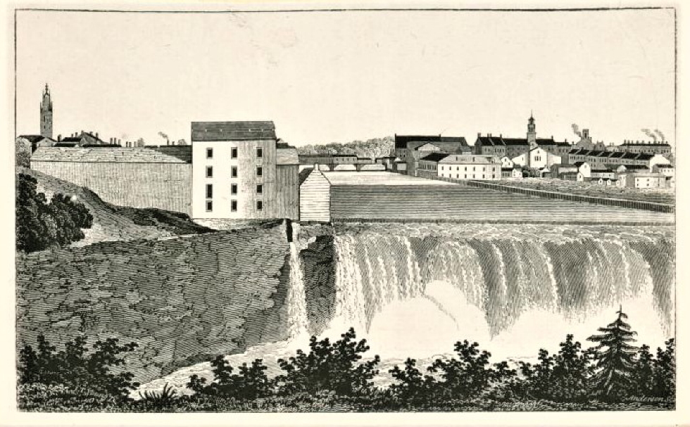 Early Image of the Mills at Lowell, MA
