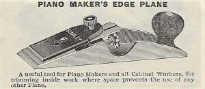 Ad for the Stanley No.97 Piano Maker's Edge Plane from the 1905 Stanley Catalog