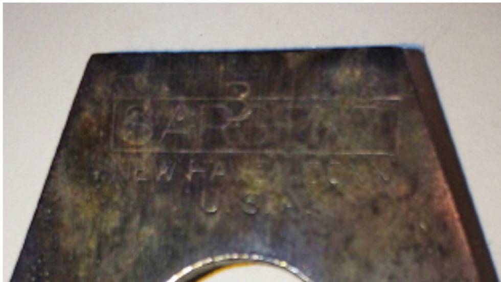 Figure 6  Markings on cutter
