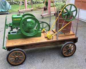 John Deere Hit & Miss Engine Running an Ice Cream Freezer