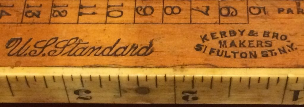Kerby & Bro. Shoe Measure Rule with an Ivory Inch Measure