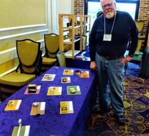 John Kesterson With His Display of Unique Lufkin and Stanley Tape Measures