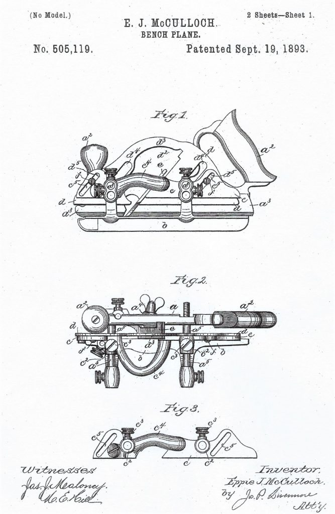 Eppie McCulloch's Patent