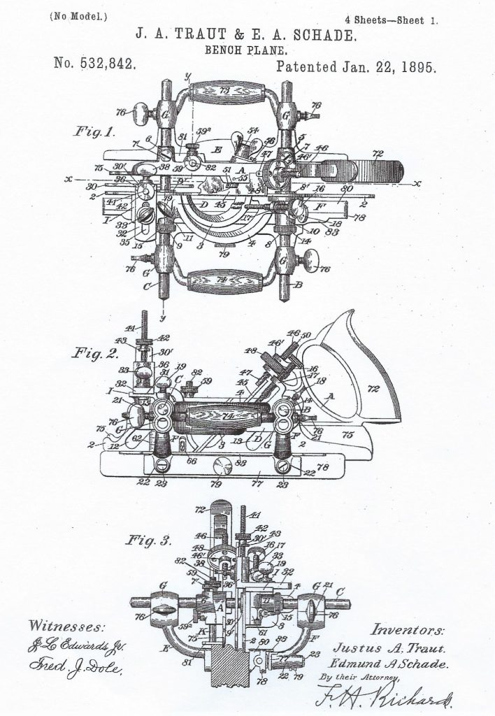 Stanley No. 55 Patent Drawing