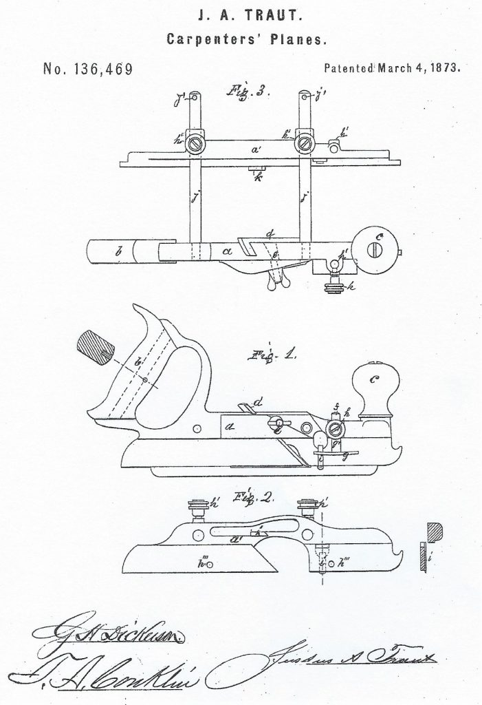 Traut's Patent for the Stanley No. 46