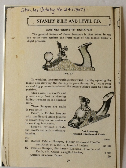 Stanley 1907 catalog cut