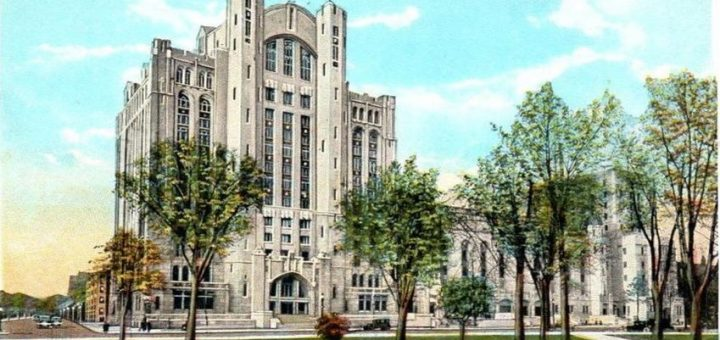 Postcard of The Masonic Temple in Detroit