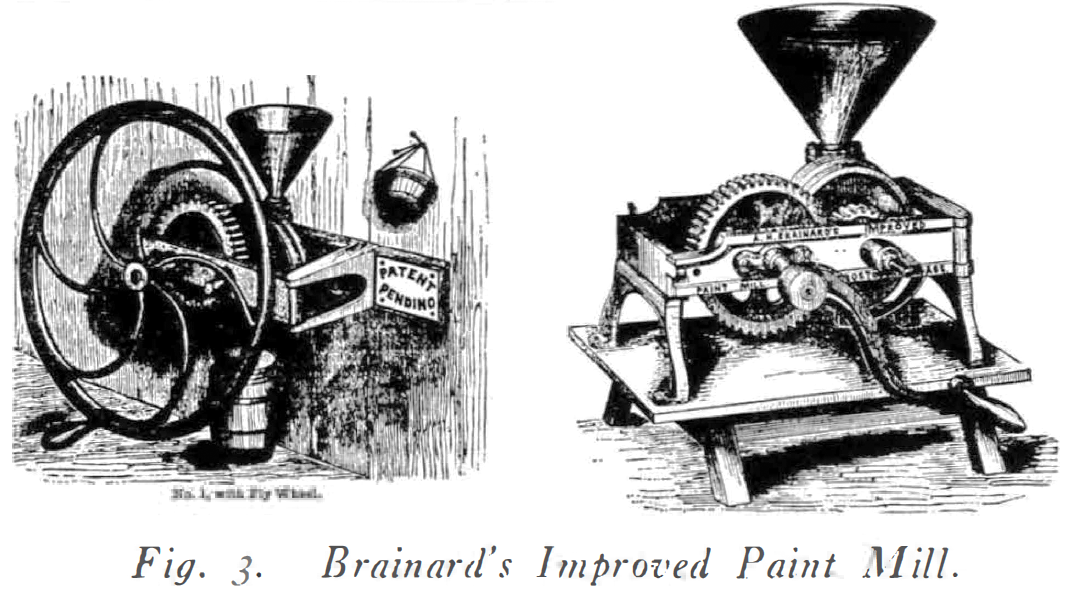 image of Brainard's improved paint mill