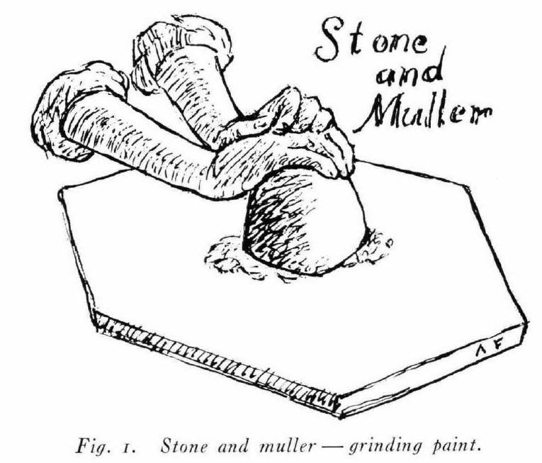 stone and muller for grinding paint